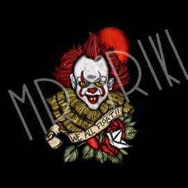 camiseta it el payaso we all float vista
